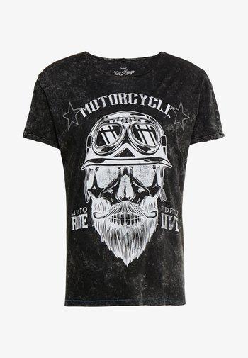 MT BEARDED BIKER - Print T-shirt - black