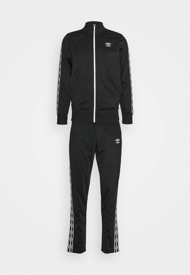 ACTIVE STYLE TAPED TRACKSUIT - Trainingspak - black/white