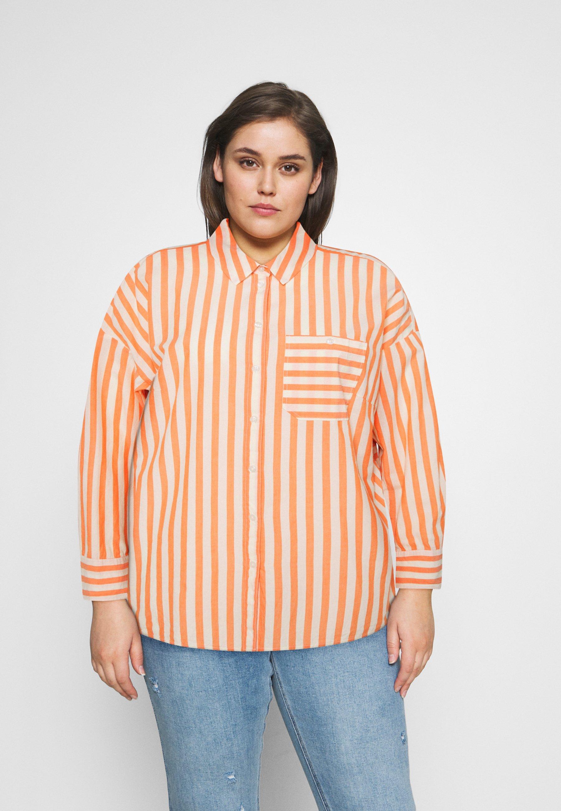Women Button-down blouse - ecru red