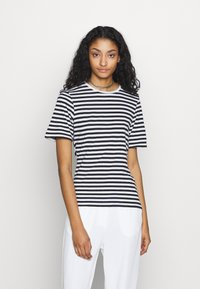 NA-KD - STRIPED TEE - T-shirt print - black/white - 0
