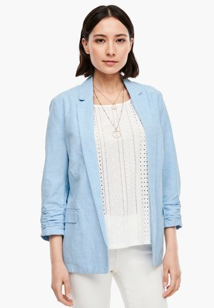 MIT RAFFUNG - Blazer - light blue melange