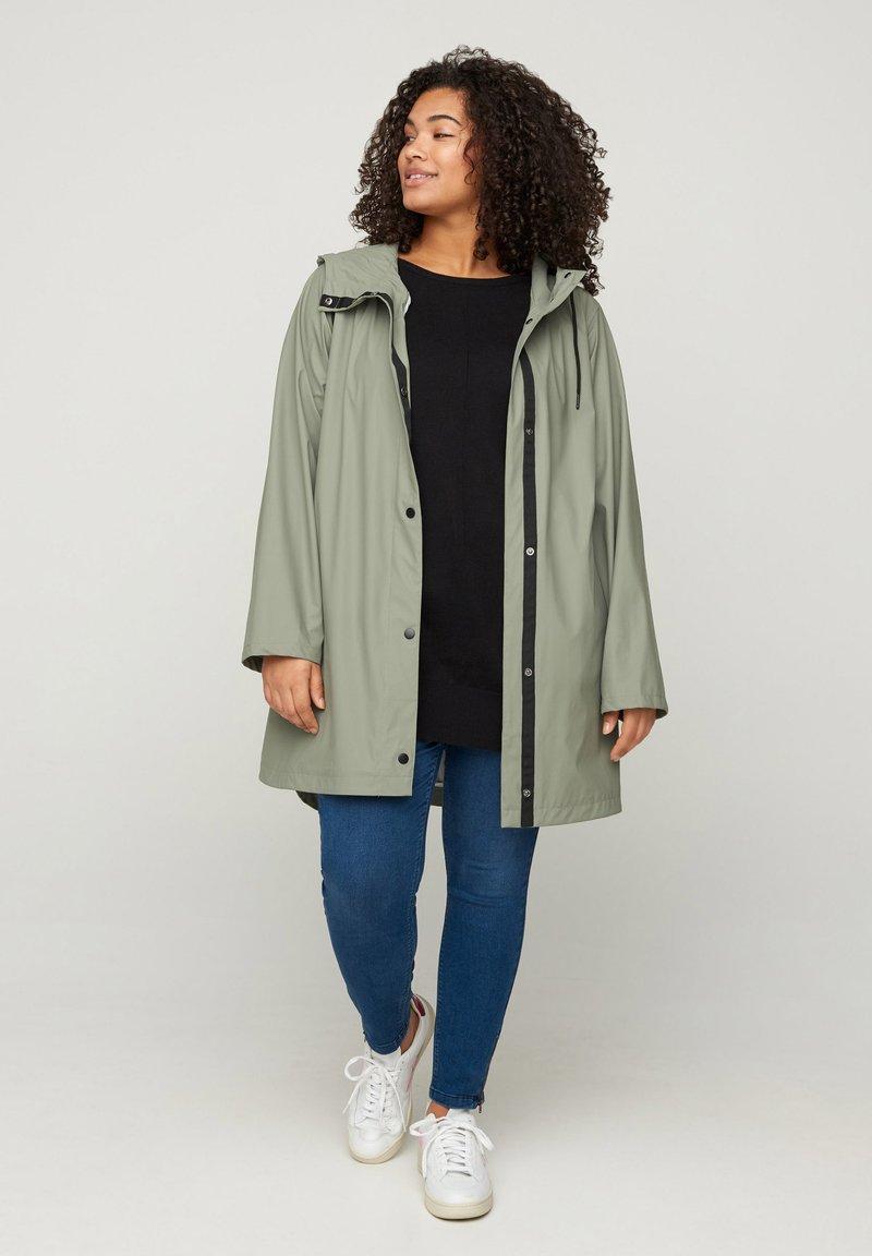 Zizzi - Waterproof jacket - green