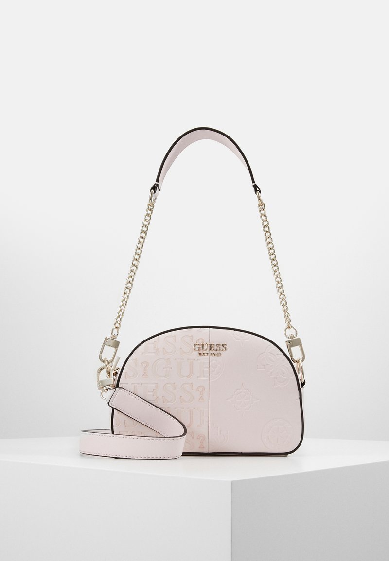 Guess - KAYLYN MINI CROSSBODY TOP ZIP - Handbag - blush