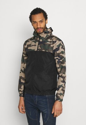 ASHBLOCKCAMO - Summer jacket - black/ khaki