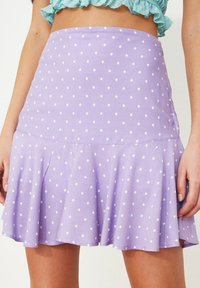 Trendyol - PARENT - A-line skirt - purple - 2