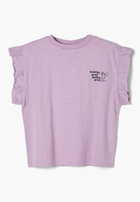s.Oliver - MIT RÜSCHEN-ÄRMELN - Print T-shirt - light purple - 2