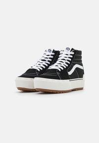 Vans - SK8 STACKED - High-top trainers - black/blanc de blanc - 1