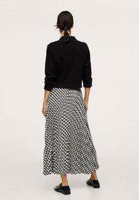 Mango - Áčková sukně - black - 2