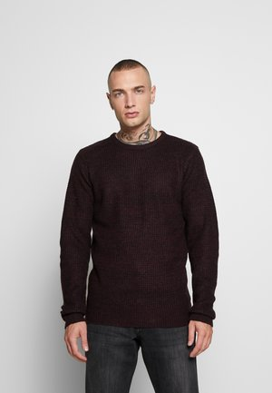 NEUTROND - Maglione - red wine/black