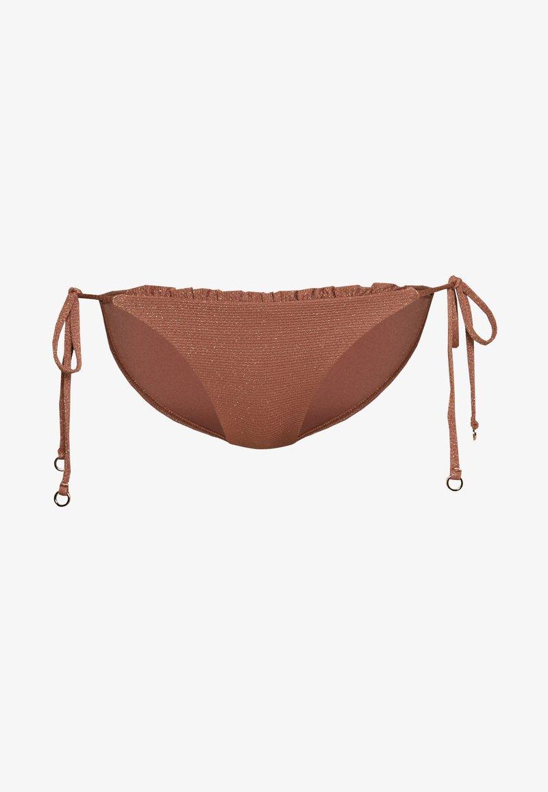 Seafolly - STARDUSTHIPSTER TIE SIDE - Bikini bottoms - bronze