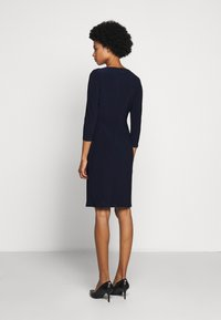 Lauren Ralph Lauren - MID WEIGHT DRESS TRIM - Pouzdrové šaty - lighthouse navy - 2