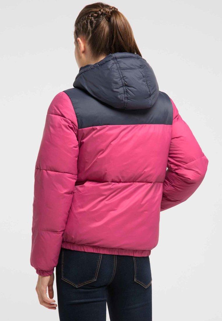 myMo Winterjacke navy/pink/rosa