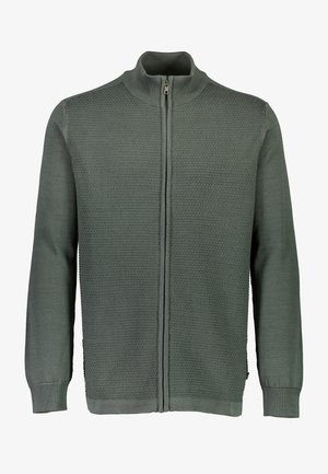 Sweater met rits - army