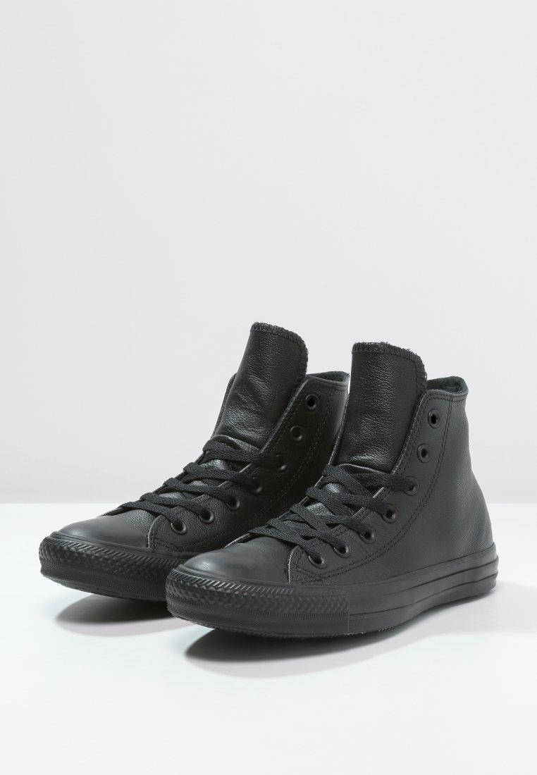 scarpe converse nere pelle