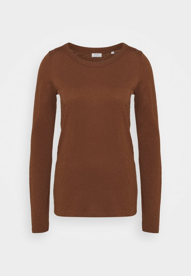 LONG SLEEVE CREW NECK SLIM FIT - Long sleeved top - fantastic brown