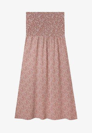 MIT PRINT UND STRETCHBUND  - A-line skirt - light brown