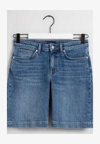 GANT - Denim shorts - light blue worn in - 1