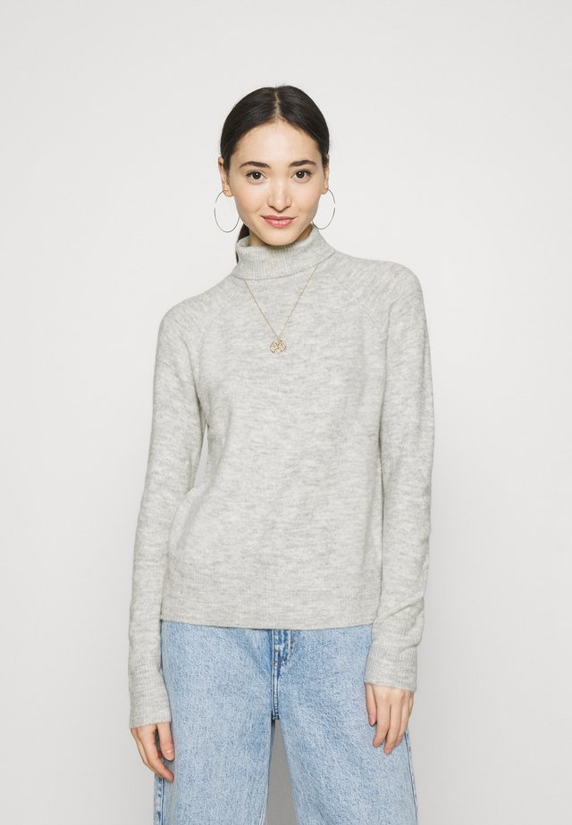 JDYELANORA ROLLNECK - Sweter - light grey melange