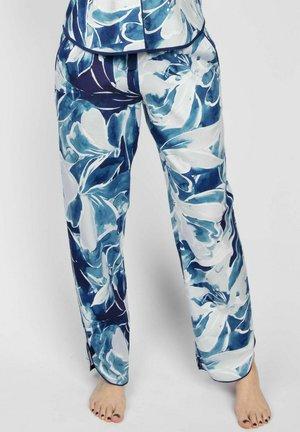 Pyjamasbyxor - blue floral print