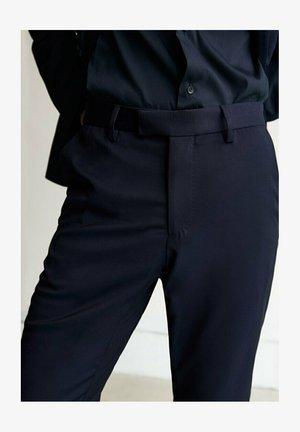 Spodnie garniturowe - blue black denim