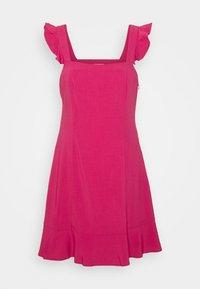 NA-KD - PAMELA REIF X NA-KD FRILL DETAIL MINI DRESS - Day dress - rosewood - 5