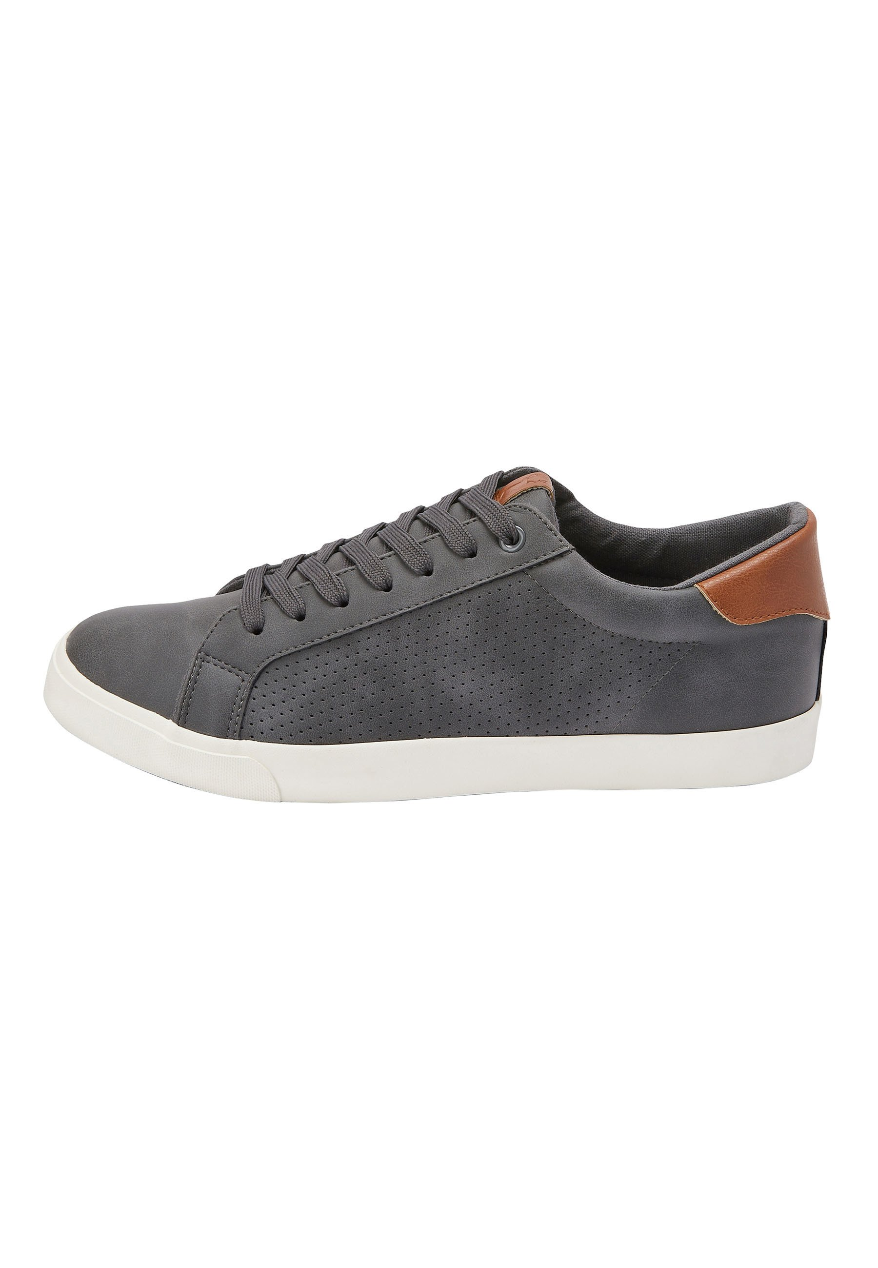 Herrer GREY PERFORATED TRAINERS - Sneakers