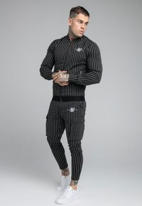 SIKSILK - DUAL STRIPE BOMBER - Bomberjacks - black/white - 1