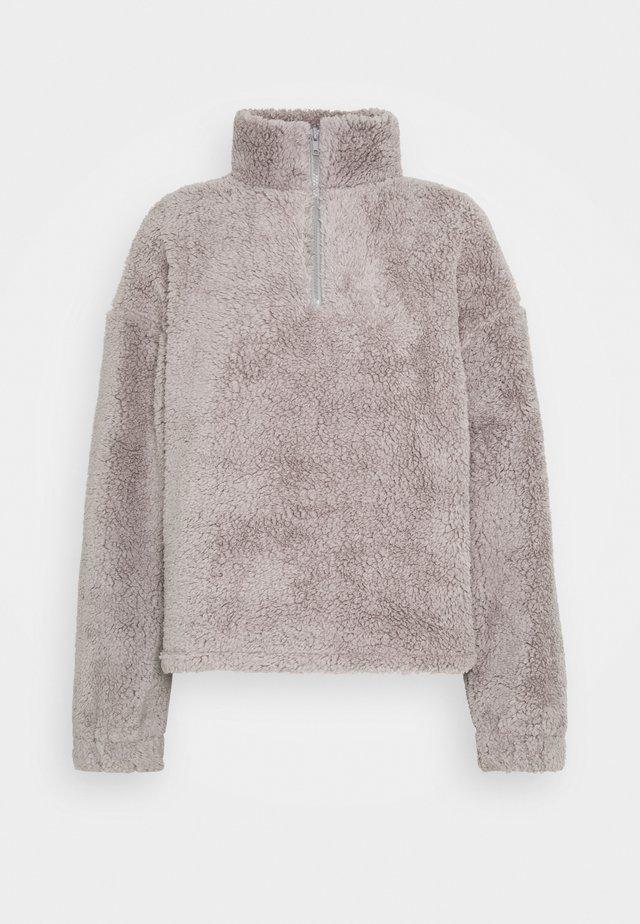 HALF ZIP - Fleece jumper - gray