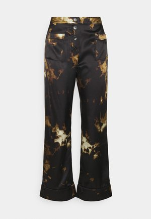 PYJAMA TROUSER - Pantalon classique - black/brown