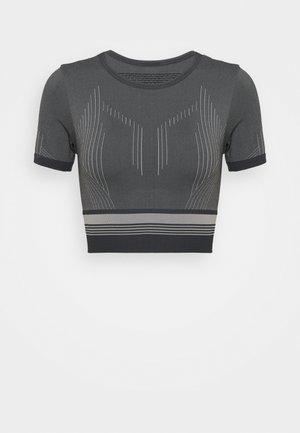 ONPMERETA CIR CROPPED - Camiseta estampada - blue graphite/sleet