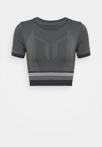 ONPMERETA CIR CROPPED - Print T-shirt - blue graphite/sleet