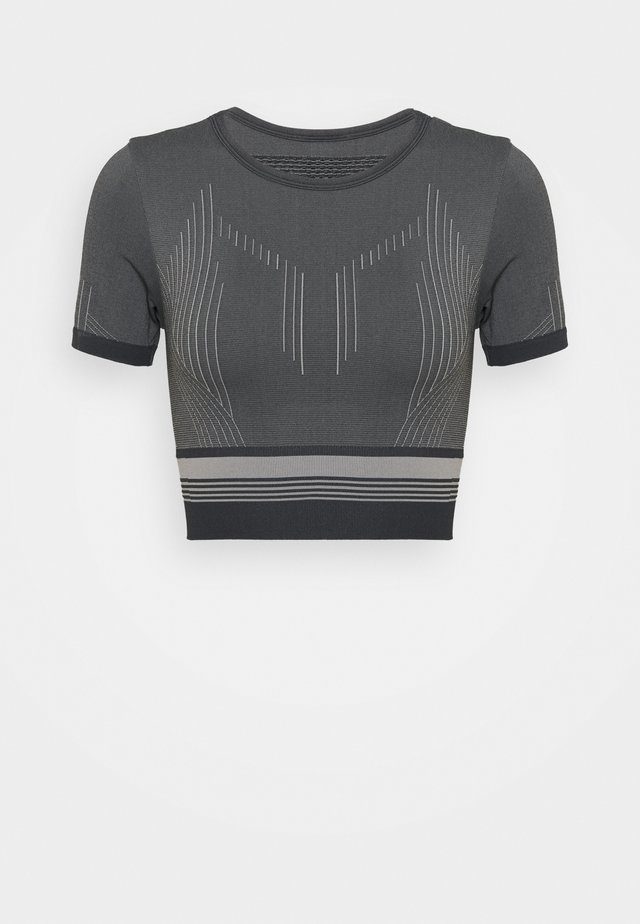 ONPMERETA CIR CROPPED - T-shirt con stampa - blue graphite/sleet