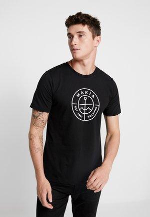 SCOPE - T-shirt con stampa - black