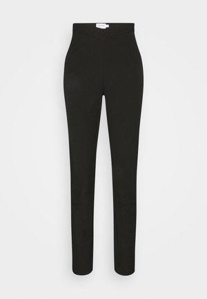 MATHILDE GØHLER V SHAPED WAIST STRAIGHT PANTS - Kalhoty - black