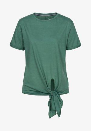 MERINO T-SHIRT W KNOT TEE - Print T-shirt - blau - grün