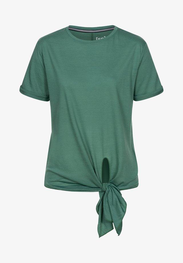 W KNOT  - Print T-shirt - blau - grün