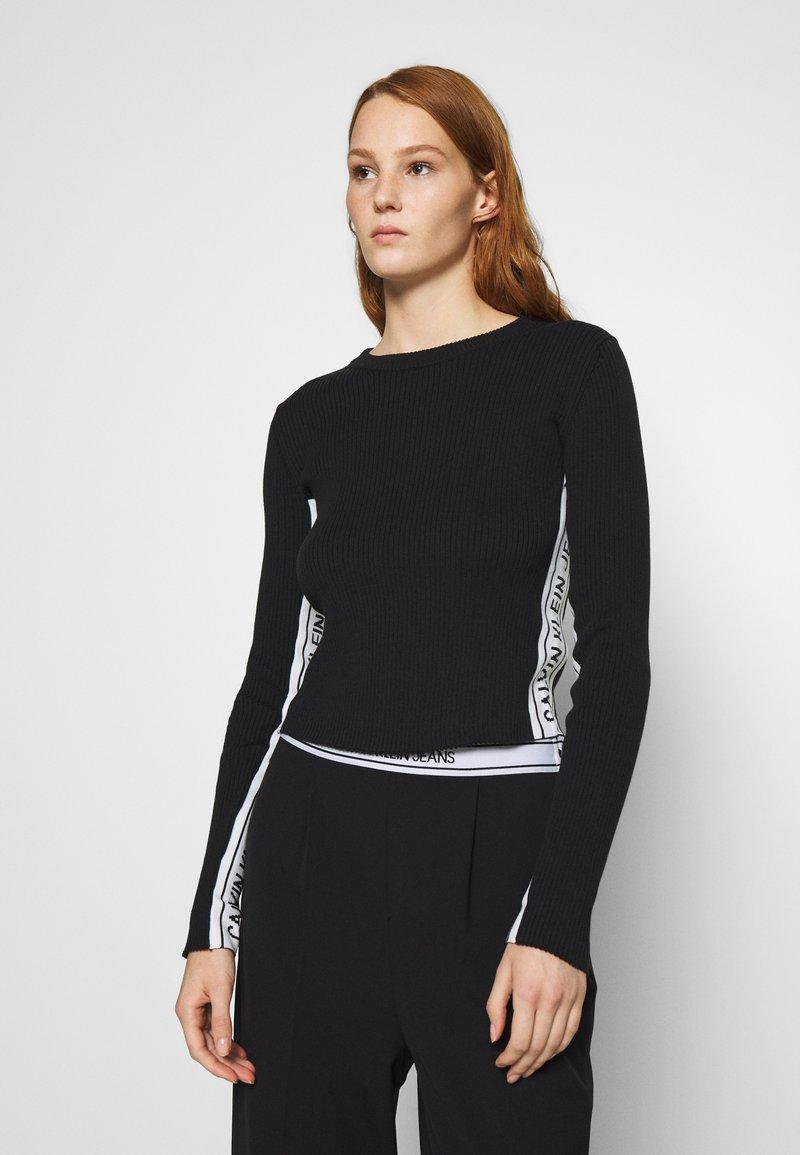 Calvin Klein Jeans - STRIPE LOGO - Jumper - black