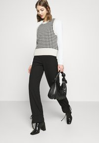 Nly by Nelly - TIE PANTS - Trousers - black - 3
