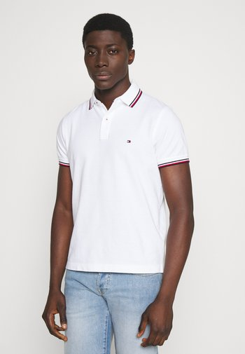TIPPED SLIM FIT - Polo shirt - white