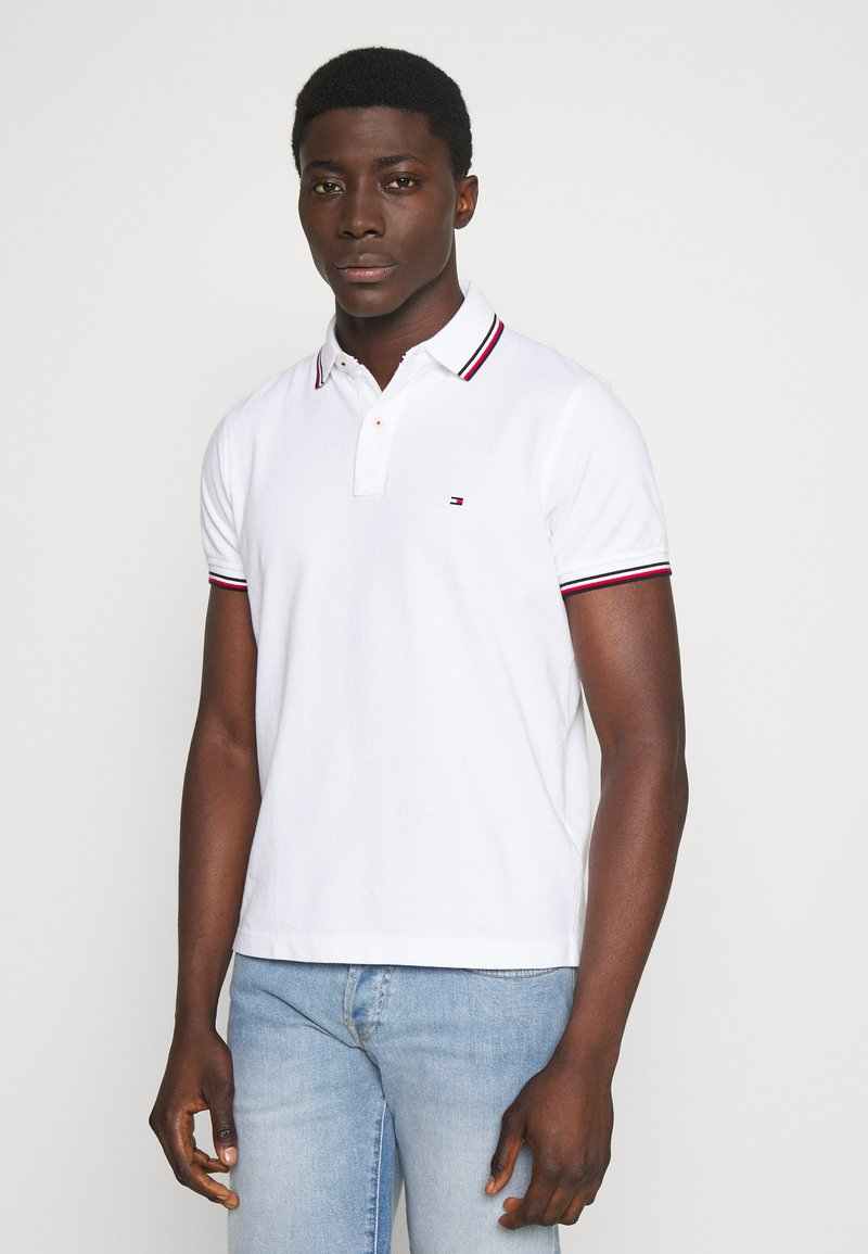 Tommy Hilfiger - TIPPED SLIM FIT - Pikeepaita - white