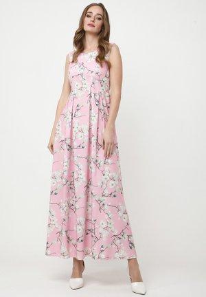 KANTRI - Maxi dress - rosa, weiß