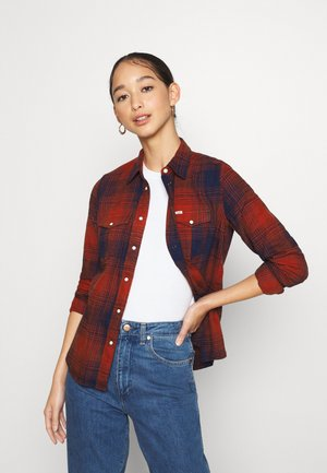 REGULAR WESTERN SHIRT - Button-down blouse - red ochre