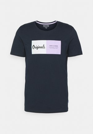 JORJOSHUA TEE CREW NECK - T-shirt con stampa - navy blazer