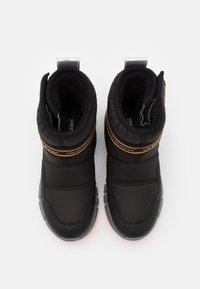 Geox - FLEXYPER BOY ABX - Winter boots - black/orange - 3