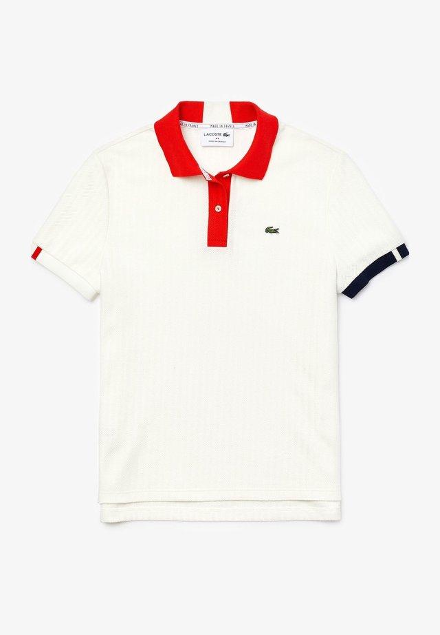 Polo - blanc / rouge / bleu marine / blanc