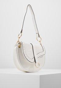 New Look - SHARNI SADDLE BAG - Handbag - white - 3