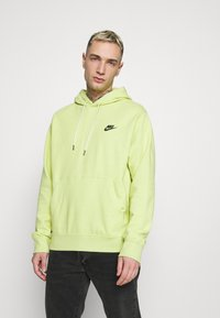 Nike Sportswear - HOODIE - Sweat à capuche - limelight/smoke grey - 0