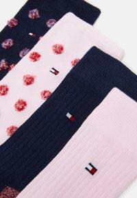 Tommy Hilfiger - KIDS SOCK GIRLS FUZZY DOT 4 PACK - Ponožky - pink/dark blue - 1