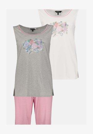 3 PACK - Pyjamapaita - pinkrosa/grey/white