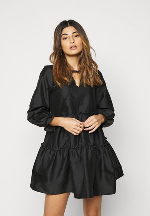 VMKIRA TIE SHORT DRESS PETIT - Day dress - black